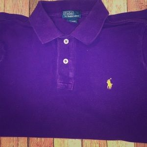 Purple/Yellow Gold Ralph Lauren Polo Shirt